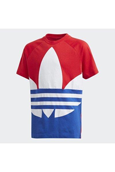 Kız Çocuk Kırmızı-Mavi Large Trefoil Spor T-Shirt