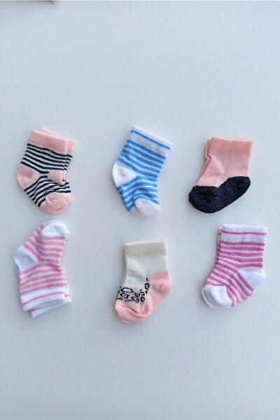 Kız Bebek 6'lı Çorap 0-6 Ay