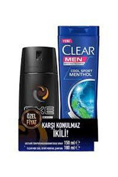 Deodorant Dark Temptation 150 ml Clear Men Kepeğe Karşı Etkili Cool Sport Menthol Şampuan 180 ml
