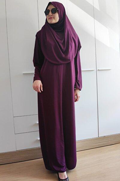 Kadın Mürdüm Renk Namaz Elbisesi