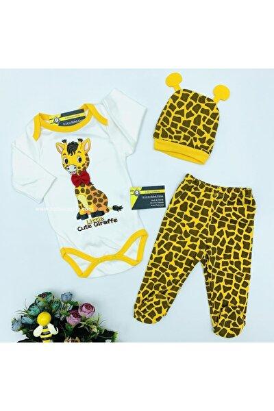 Little Cute Giraffe 3 Parça Body Zıbın Takım