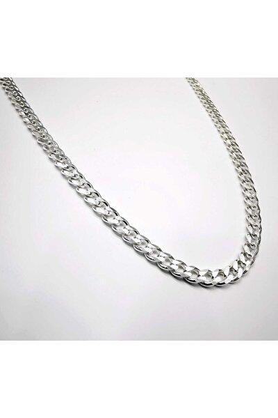 Silver Unisex Gurmet 4,4 Mm Gümüş Kolye Zincir