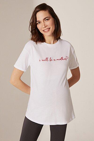 Kadın  Optik Beyaz  Tişört 0Sv401Z8