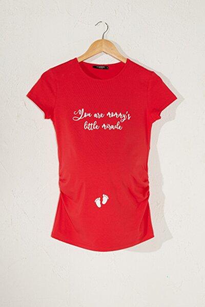 Kadın  Açık Kırmızı  Tişört 0Sv410Z8