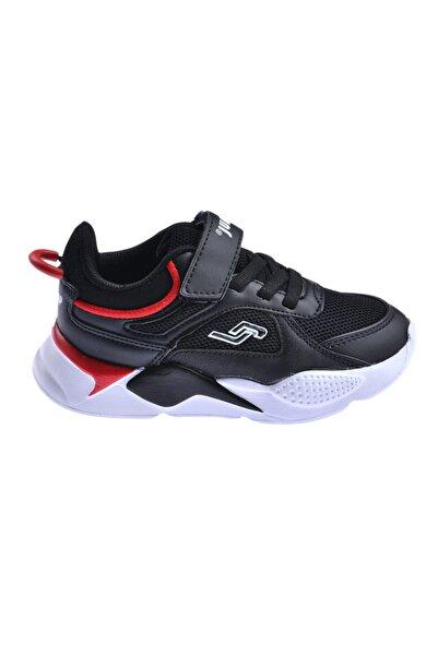 Unisex Çocuk Siyah Günlük Cırtlı Spor Ayakkabı 24931