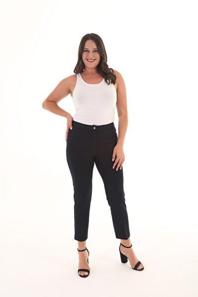 Kadın Lacivert Likralı Kumaş Pantolon