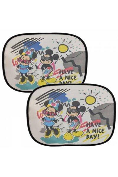 Lisanslı Mickey Ve Minnie Mouse Çocuk Araba Güneşliği - Araba Güneşliği