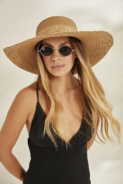 Syt Kadın Hasır Şapka Y2730-27 Kahverengi