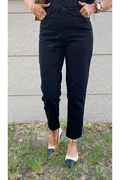 Kadın Siyah Mom Jean