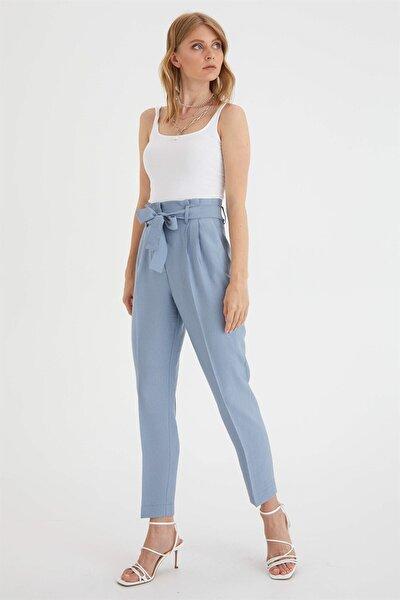 Kadın Mavi Havuç Pantolon