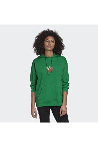 Kadın Yeşil Trefoil  Sweatshirt (gd2320)