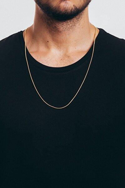 Erkek Zincir Gold Çelik Kolye