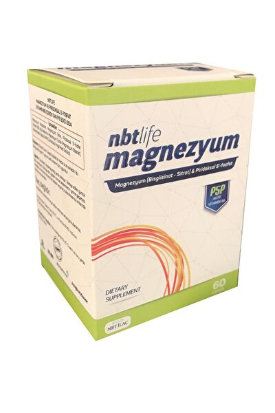 Nbt Life Magnezyum P5p Vitamin B6 Içeren 60 Kapsül