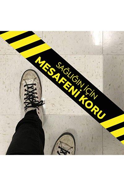 Sosyal Mesafe Sticker Yer-Zemin Etiketi Mesafenizi Koruyunuz !