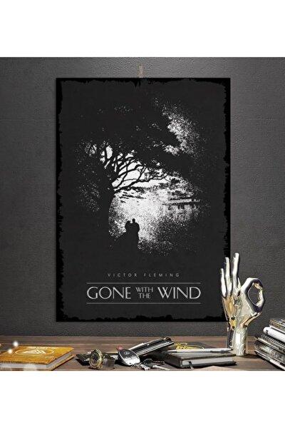 Gone With The Wınd Efsane Film Tasarım 15x21cm Hediyelik Dekoratif 8mm Ahşap Tablo