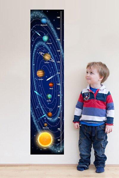 Uzay Ve Gezegenler Boy Ölçer Sticker
