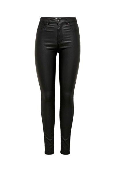 Kadın Siyah Skinny Deri Pantolon 15208305