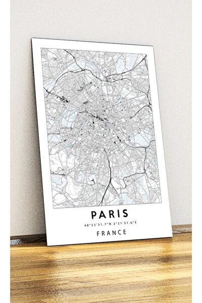 - Fransa Paris Harita - Metal Poster