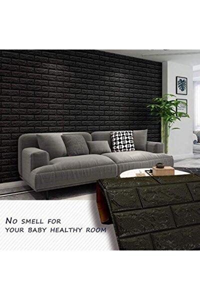 Kendinden Yapışkanlı Siyah Duvar Paneli 3d Duvar Kağıdı Nw06