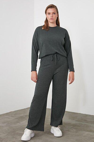 Haki Bol Paça Örme Pantolon TWOAW21PL0008