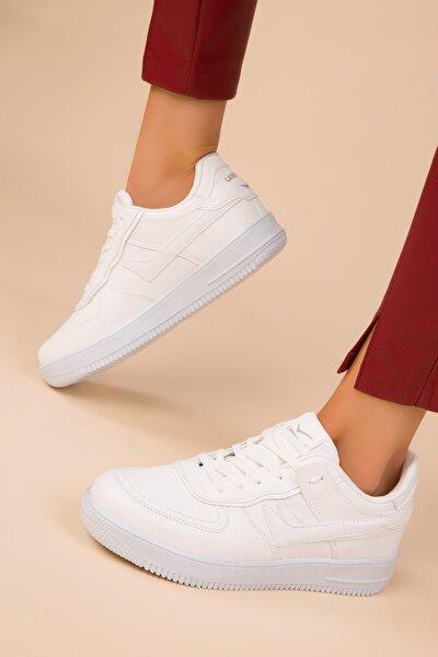 Beyaz Kadın Sneaker 15278