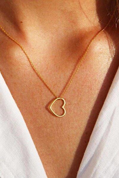 Kadın Sarı Kalp Kolye