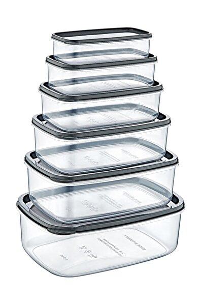 Şeffaf Plastik 6'lı Saklama Kabı Seti