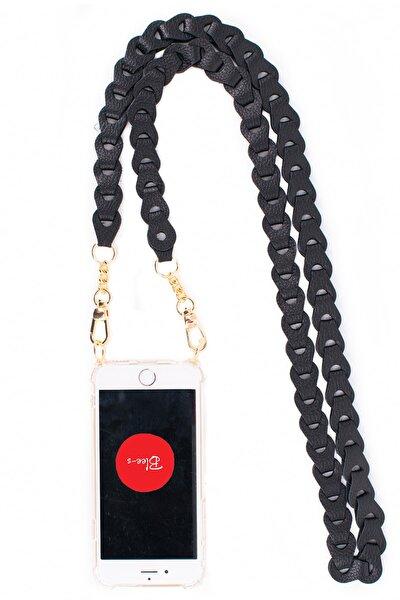 Iphone 11 Deri Çapraz Askılı Cep Telefonu Kılıfı Queen Siyah