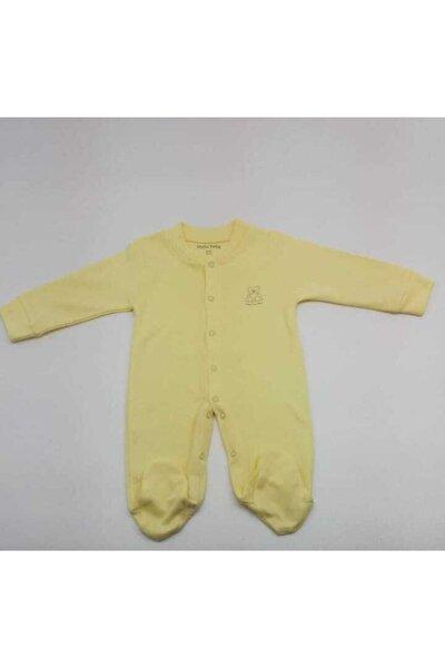 Unisex Çocuk Sarı Penye Tulum