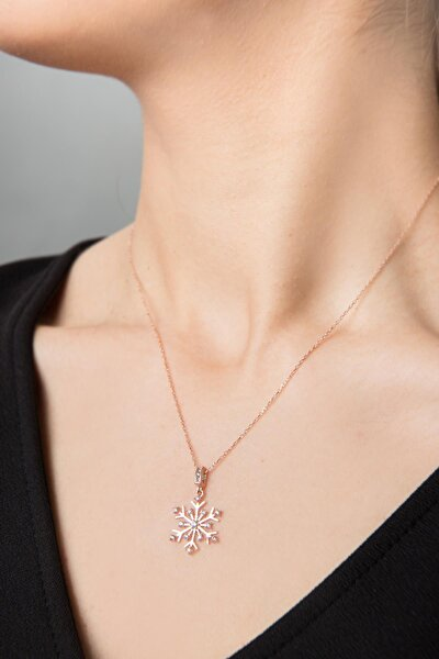 Kadın Kartanesi Model Zirkon Taşlı 925 Ayar Gümüş Kolye Pp2348