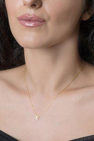 Kadın Üç Boyutlu HarfAltın 925 Ayar Gümüş Kolye
