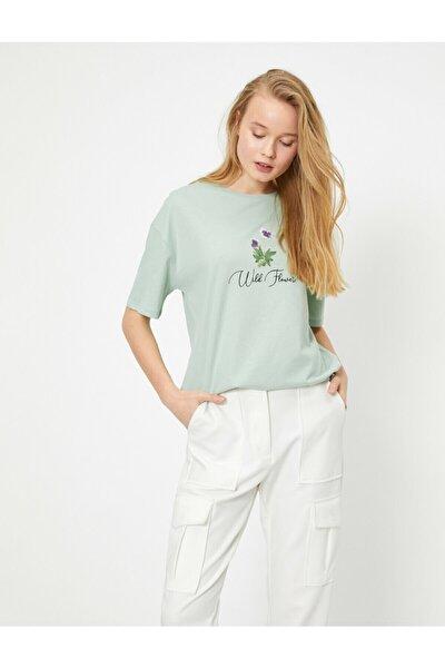Kadın Yeşil T-Shirt 0YAL18374IK