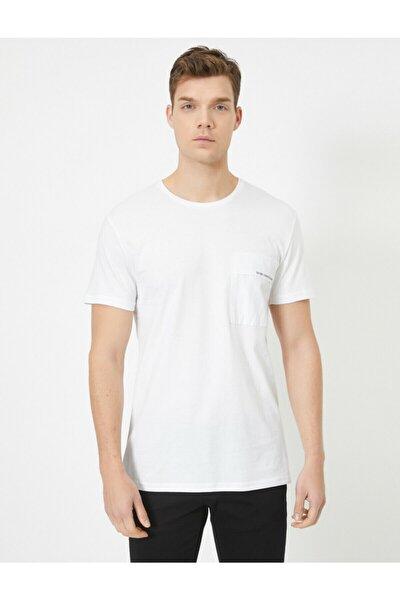 Erkek Beyaz T-Shirt 0YAM11761LK