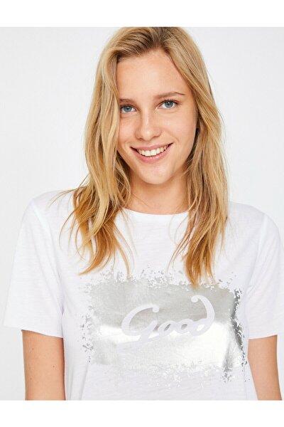 Kadın  Beyaz T-Shirt 8YAK13317EK