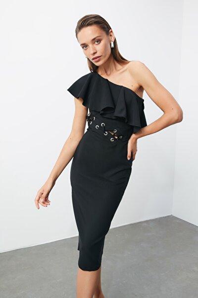 Siyah Bel Detaylı  Elbise TPRSS20EL1180