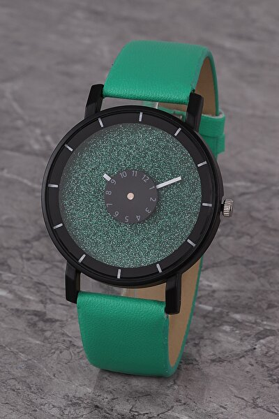 Plkk017r01 Kadın Saat Yeşil Tasarım Kadran Deri Kordon