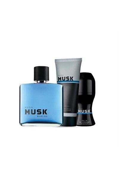 Musk Marine Edt 75 ml Erkek Parfümü/roll-on/tıraş Sonrası Jeli