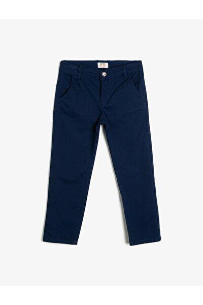 Çocuk Chino Kesim Basic Pamuklu Pantalon