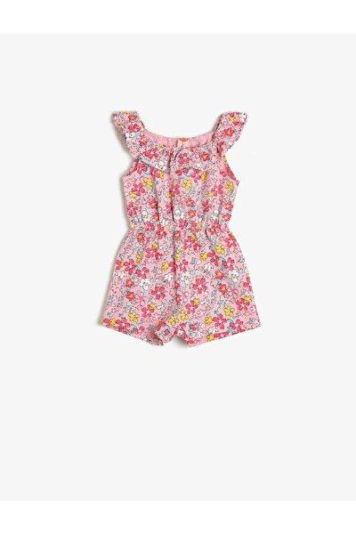 Kız Bebek Pembe Desenli Tulum 0YMG49112OK