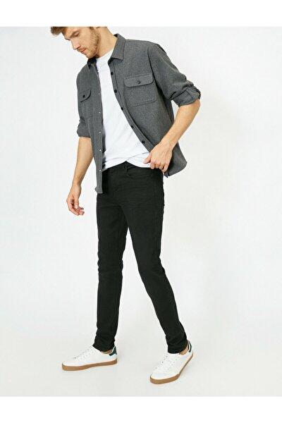 Erkek Siyah Skinny Fit Jean Pantolon