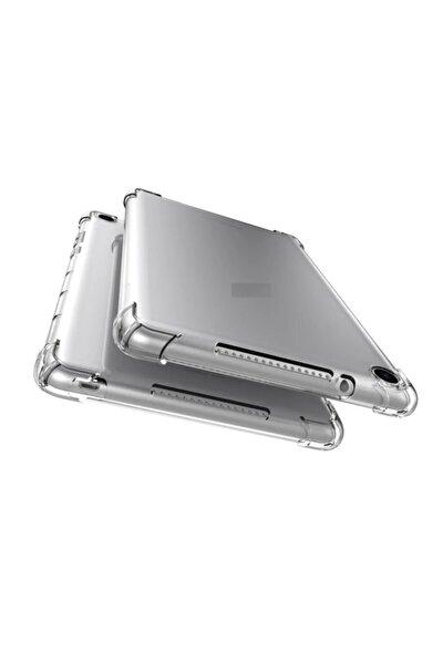 "Galaxy Tab S6 Lite Sm-p610 10.4"" Kılıf Köşe Korumalı Darbe Emici Şeffaf Yumuşak Silikon"