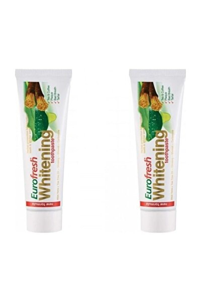 2 Adet Eurofresh Whitening Aloe Veralı Misvaklı Diş Macunu 112g