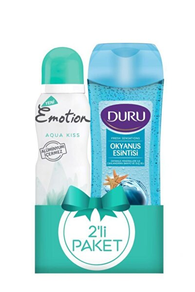 Deodorant Aqua Kiss 150ml +duru Duş Jeli Okyanus Esintisi 250ml