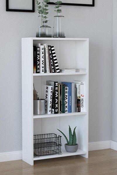 3 Raflı Kitaplık - Beyaz