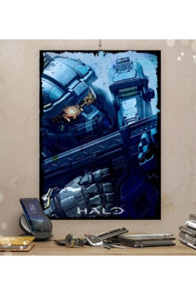 Halo Gamer Tasarım 35x50cm Hediyelik Dekoratif 8mm Ahşap Tablo