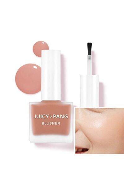 Doğal Görünüm Sunan Nemlendirici Likit Allık 9g. APIEU Juicy-Pang Water Blusher (BE01)