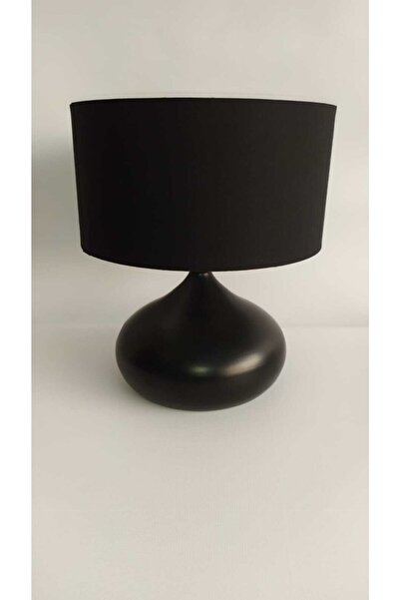 Elips Masa Lambası Siyah Kumaş Şapka