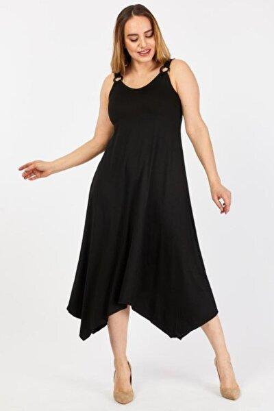 Kadın Siyah Askılı Elbise