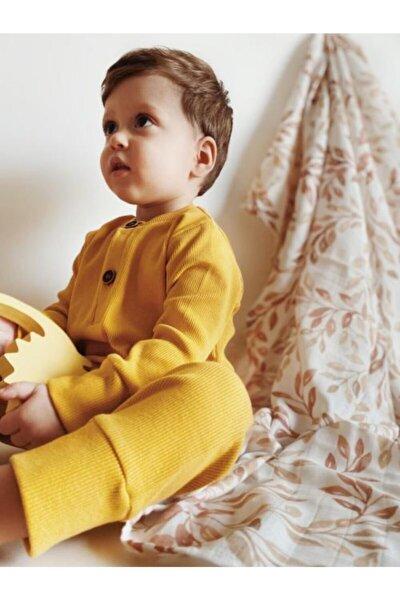 Unisex Bebek Hardal Alttan Çıtçıtlı Tulum