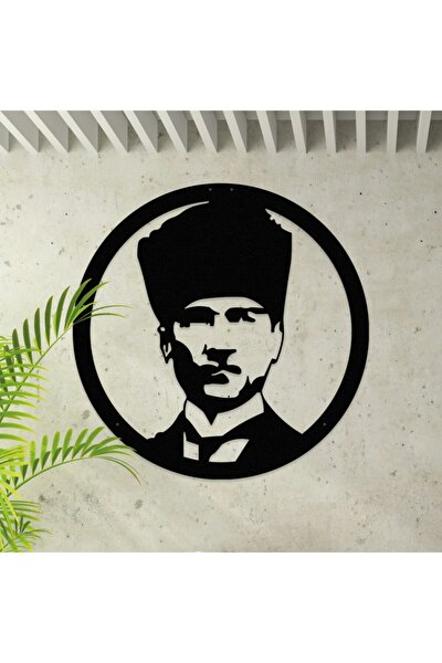 Atatürk Portresi Dekoratif Metal Duvar Tablosu 45cm